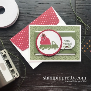 Holiday Haul Stampin' Rewards Exclusive Stamp Set from Stampin' Up! Note card by Mary Fish, Stampin' Pretty