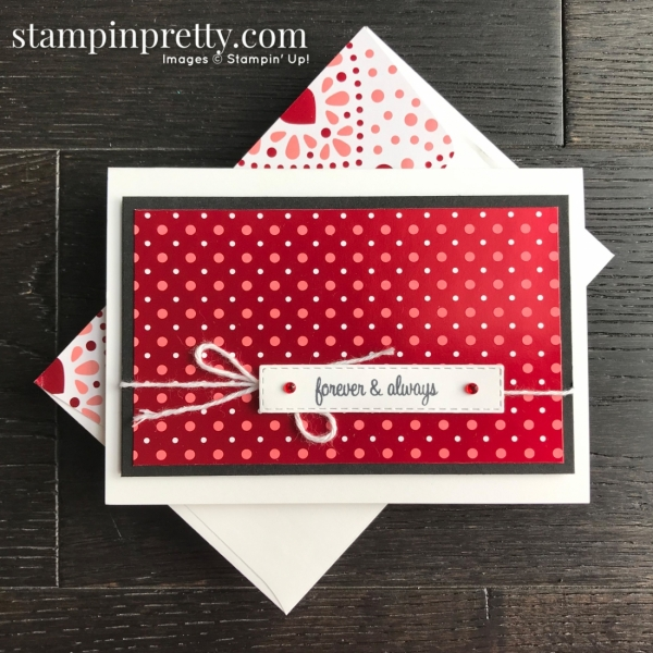 From My Heart Specialty Designer Series Paper from Stampin' Up! Note Card by Mary Fish, Stampin' Pretty