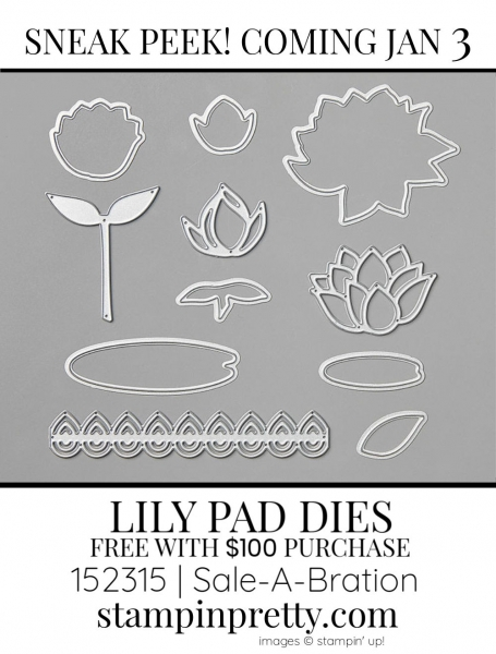 Lily Pad Dies by Stampin' up! 152315 SAB Sneak Peek - Earn Free with $100 Purchase