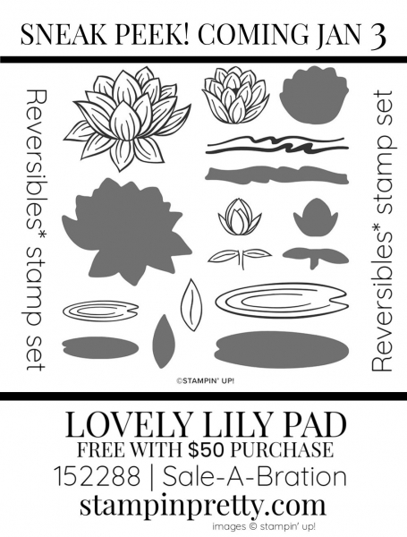 Lovely Lily Pad Stamp Set by Stampin' up! 152288 SAB Sneak Peek - Earn Free with $50 Purchase
