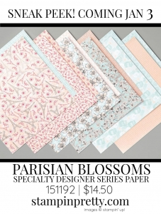 PARISIAN BLOSSOMS Specialty Designer Series Paper by Stampin Up 151192