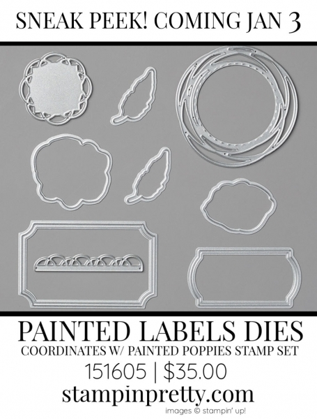 Painted Labels Dies by Stampin' up! 151605