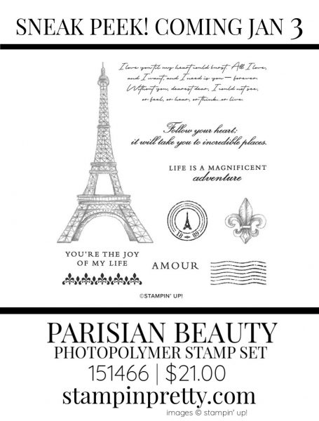 Parisian Beauty Stamp Set by Stampin' up! 151193 Sneak Peek