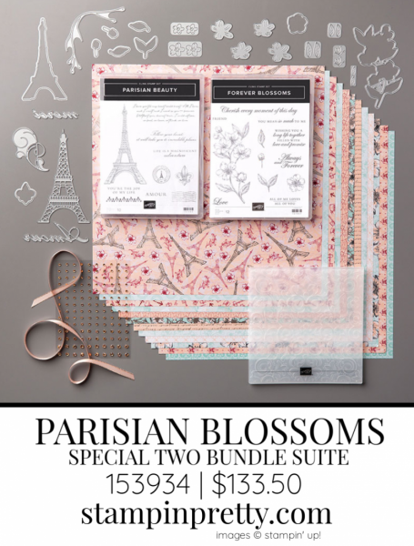 Parisian Blossoms Suite by Stampin' up! 153934 Sneak Peek
