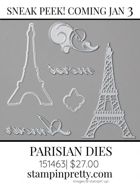 Parisian Dies by Stampin' up! 151463 Sneak Peek