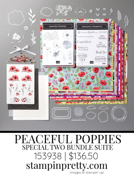 Peaceful Poppies Suite by Stampin' up! 153938 Sneak Peek