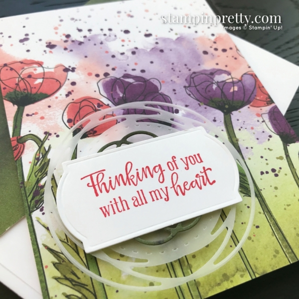 Peaceful Poppies Suite from Stampin' Up! 2020 Mini Catalog. Cards by Mary Fish, Stampin' Pretty Simple Saturday Card