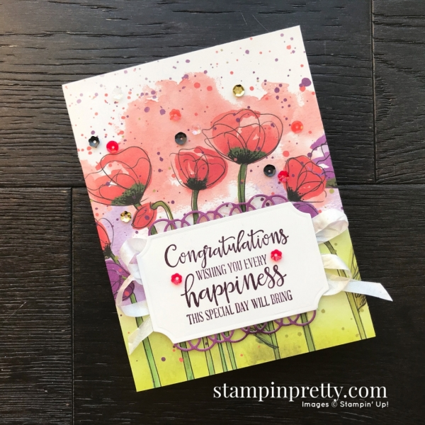 Peaceful Poppies Suite from Stampin' Up! 2020 Mini Catalog. Cards by Mary Fish, Stampin' Pretty Simple Saturday Card(3)