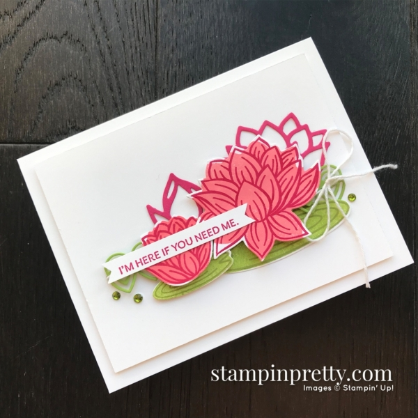 SNEAK PEEK - Lovely Lily Pad & Lily Pad Dies Sale-A-Bration Promotion FREE WITH QUALIFYING PURCHASE Mary Fish, Stampin' Pretty(2)