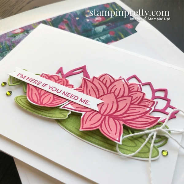 SNEAK PEEK - Lovely Lily Pad & Lily Pad Dies Sale-A-Bration Promotion FREE WITH QUALIFYING PURCHASE Mary Fish, Stampin' Pretty