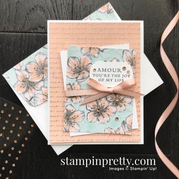 SNEAK PEEK! Parisian Blossoms Suite of Products from the 2020 Jan-Jun Mini Catalog. Card by Mary Fish, Stampin' Pretty - Petal Pink