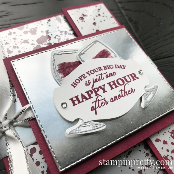 Sip Sip Hooray by Stampin' Up! Happy Hour Fun Fold Card created by Mary Fish, Stampin' Pretty Pals Blog Hop Close Up