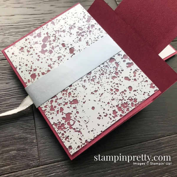 Sip Sip Hooray by Stampin' Up! Happy Hour Fun Fold Card created by Mary Fish, Stampin' Pretty Pals Blog Hop Open flap