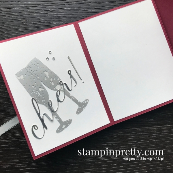 Sip Sip Hooray by Stampin' Up! Happy Hour Fun Fold Card created by Mary Fish, Stampin' Pretty Pals Blog Hop