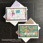 Sneak Peek DSP Note Cards Best Dressed & Tropical Oasis from Stampin
