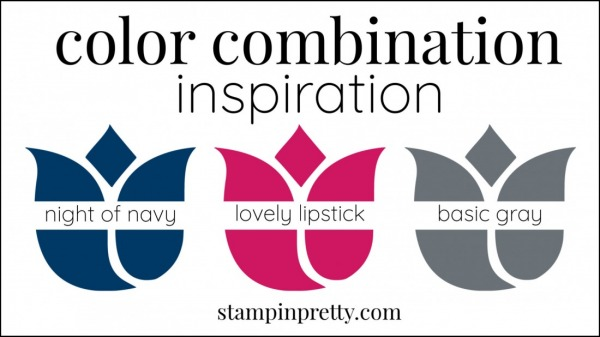 Color Combinations Night of Navy, Lovely Lipstick, Basic Gray