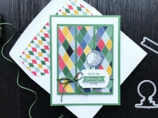 Country Club Designer Series Paper & Clubhouse Bundle from Stampin' Up! Card by Mary Fish, Stampin' Pretty