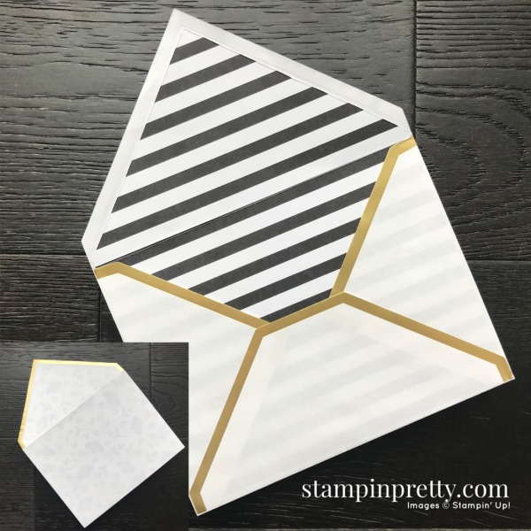 Honey Bee Bundle & Golden Honey Designer Series Paper from Stampin' Up! Card created by Mary Fish, Stampin' Pretty