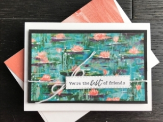 Lily Impressions DSP by Stampin' Up! Note Card by Mary Fish, Stampin' Pretty