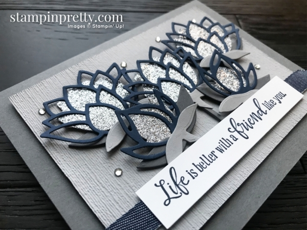 Lily Pad Dies 152315 Free with $100 Purchase - Stampin' Up! Sale-A-Bration, Card by Mary Fish, Stampin' Pretty_slant