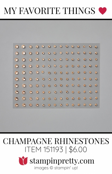 My Favorite Things Champagne Rhinestone Jewels