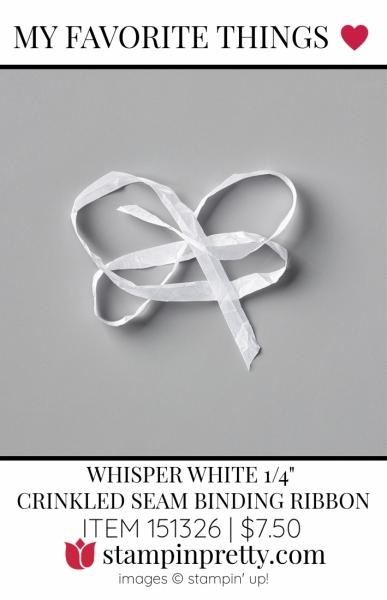 My Favorite Things Crinkled Seam Binding Ribbon