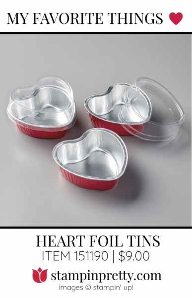 My Favorite Things Heart Foil Tins