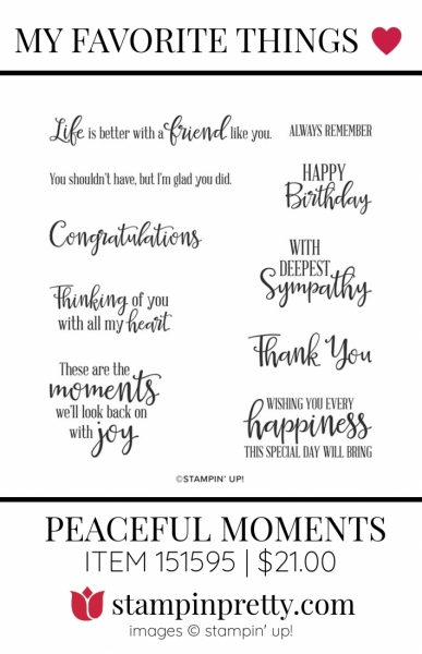 My Favorite Things Peaceful Moments
