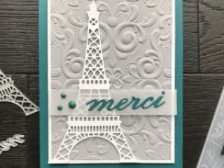 Parisian Beauty Bundle and Parisian Flourish 3D Embossing Folder by Stampin' Up! Card by Mary Fish, Stampin' Pretty
