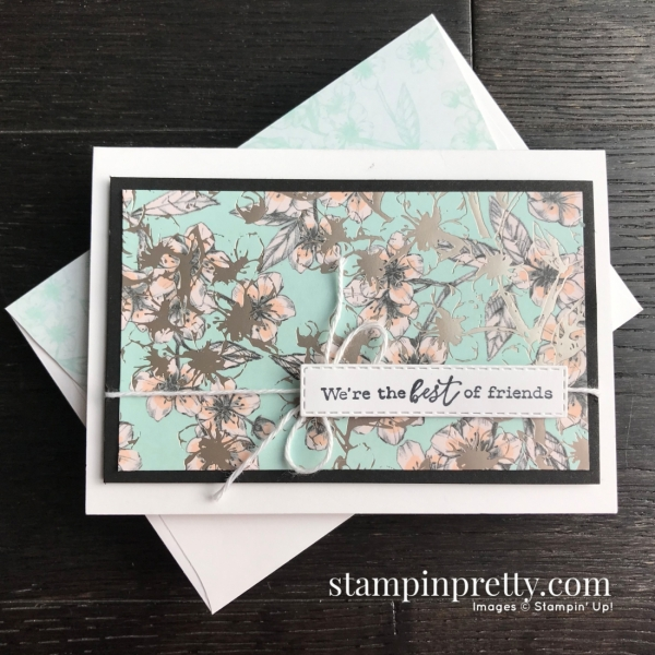 Parisian Blossoms Specialty DSP by Stampin' Up! Note Card by Mary Fish, Stampin' Pretty