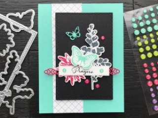 Positive Thoughts Stamp Set & Nature's Thoughts Dies from Stampin' Up! Card by Mary Fish, Stampin' Pretty