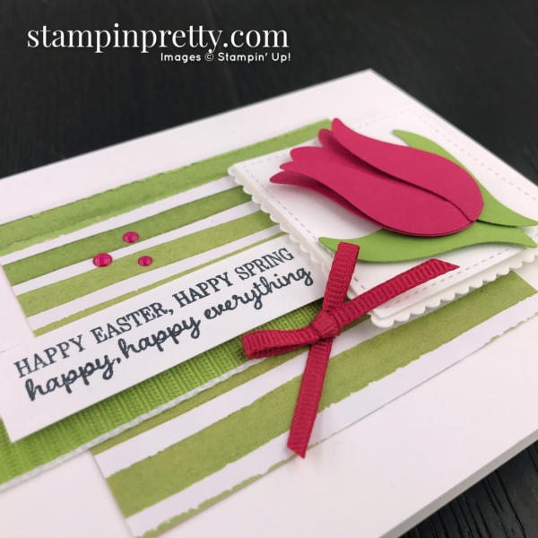 Timeless Tulips Bundle by Stampin' Up! Card by Mary Fish, Stampin' Pretty Sketchbook #sps001 Slant