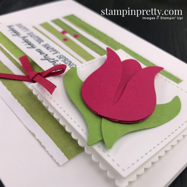 Timeless Tulips Bundle by Stampin' Up! Card by Mary Fish, Stampin' Pretty Sketchbook #sps001 right angle