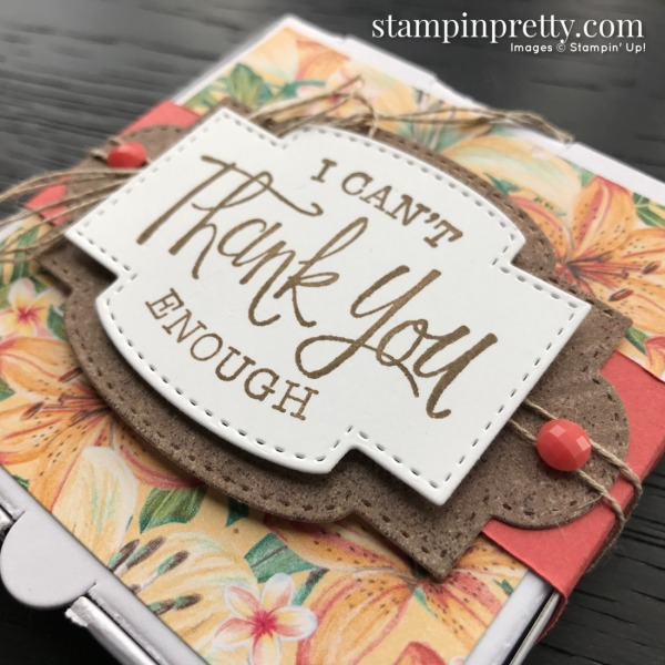 Tropical Oasis Designer Series Paper & So Sentimental Bundle from Stampin' UP! Mini Pizza Box by Mary Fish, Stampin' Pretty Slant