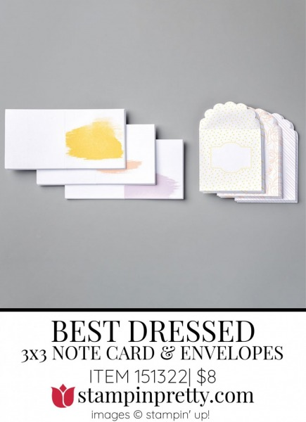 151322 Best Dressed 3x3 Note Cards