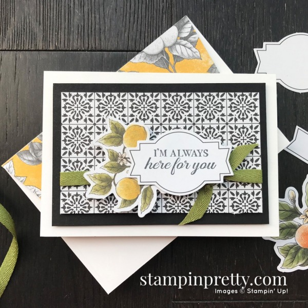 Botanical Prints Product Medley from Stampin' Up! Here for You Note Card by Stampin' Pretty, Mary Fish