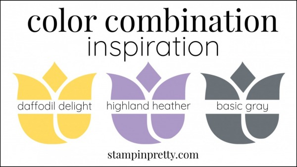 Color Combinations Daffodil Delight, Highland Heather, Basic Gray