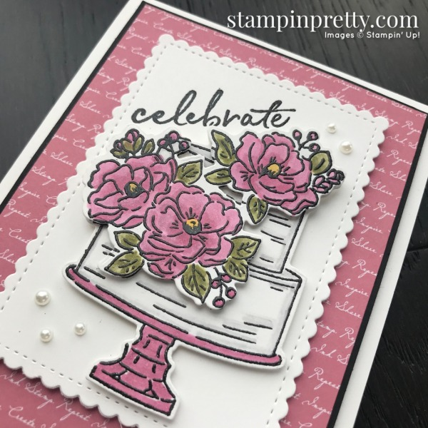 Happy Birthday To You & Birthday Dies by Stampin' Up! Card by Mary Fish, Stampin' Pretty