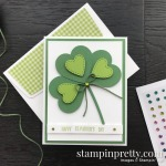 Happy St Patricks Day Heart Card by Mary Fish, Stampin