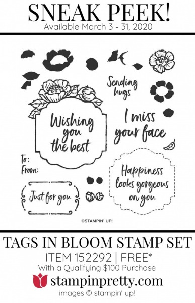 Tags in Bloom Cling Stamp Set $100 Purchase