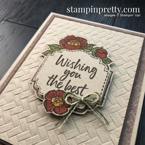 Tags in Bloom Free with $100 Purchase Sale-A-Bration Stamp Set by Stampin' Up! Card by Mary Fish, Stampin' Pretty