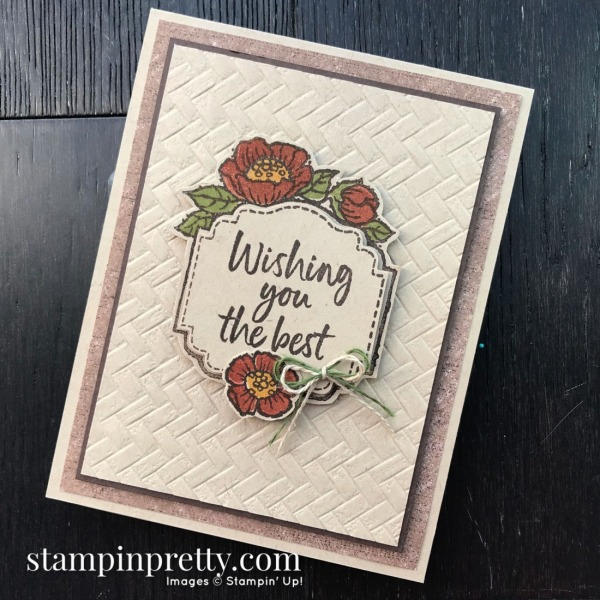 Tags in Bloom by Stampin' Up! Sneak Peek Wishing You the Best Card by Mary Fish, Stampin' Pretty