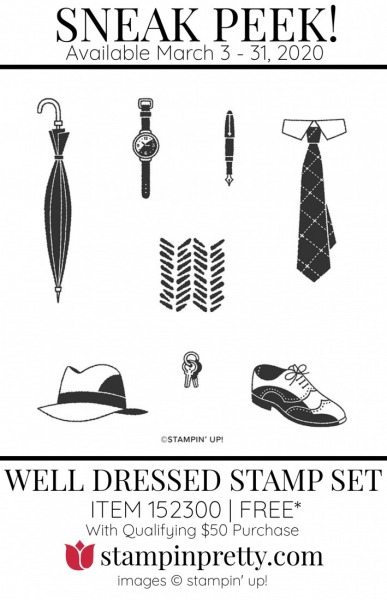 Well Dressed Cling Stamp Set $50 Purchase