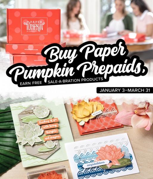 Prepaid Paper Pumpkins & Sale-A-Bration