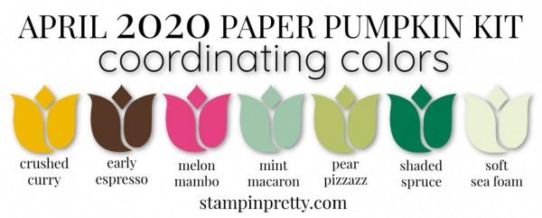 Coordinating Colors - April 2020 Paper Pumpkin