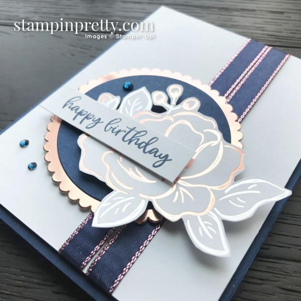 Flowering Foils DSP, Everything Rosy Ribbon by Stampin' Up! Card by Mary Fish, Stampin' Pretty