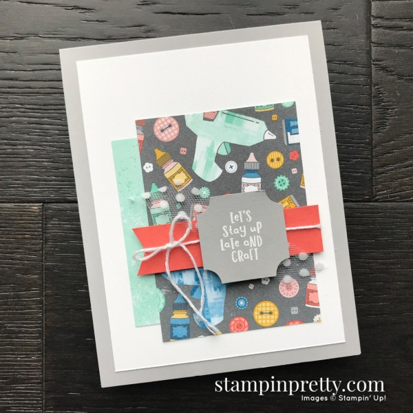 Follow Your Art Designer Series Paper from Stampin' Up! Free with $50 Purchase Card by Mary Fish, Stampin' Pretty