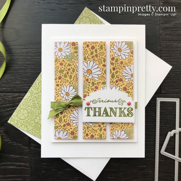 Ornate Garden Suite Sneak Peek! Stampin' Pretty Sketchbook #sps006 Thank You Card by Mary Fish, Stampin' Pretty