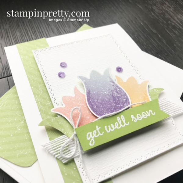 Pleased As Punch Designer Series Paper by Stampin' Up! Tulips and Get Well Soon Card by Mary Fish, Stampin' Pretty