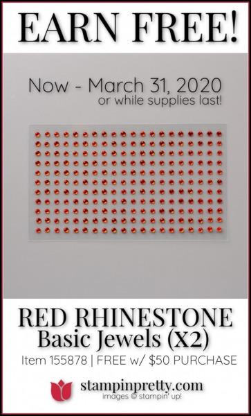 Red Rhinestone Jewels 155878 x 2 SAB 3rd Release